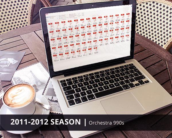 Orchestra 990s 2011-2012 Season