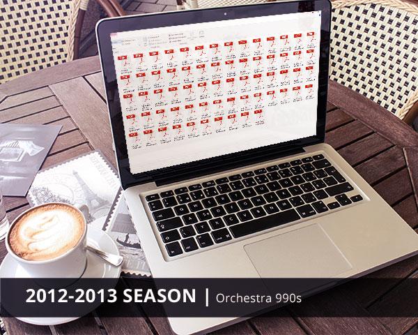 Orchestra 990s 2012-2013 Season