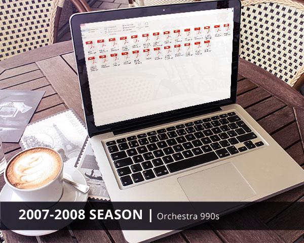 Orchestra 990s 2007-2008 Season