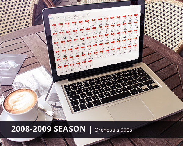 Orchestra 990s 2008-2009 Season