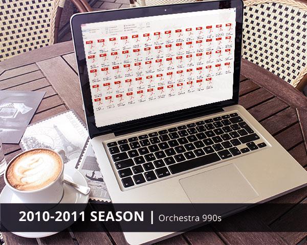Orchestra 990s 2010-2011 Season